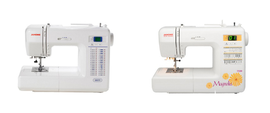 Janome 8077 vs 7330 Comparison