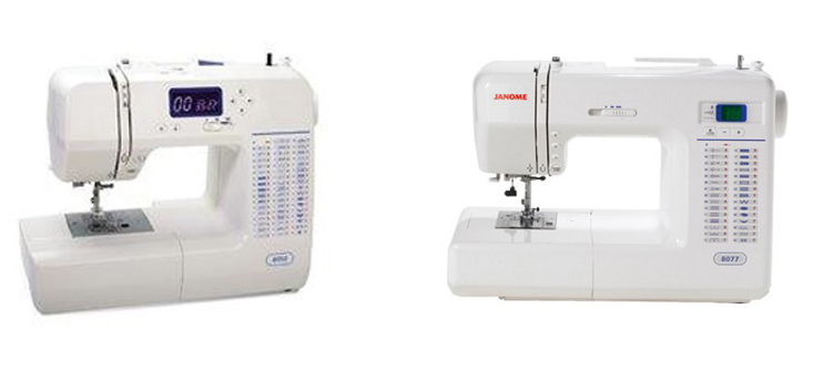 Janome 8050 Vs 8077 Comparison
