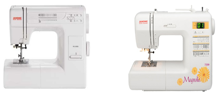 Janome 7330 review in detail for Janome hd3000